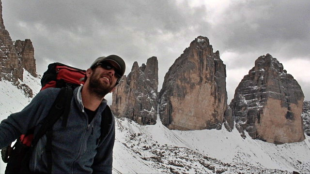 Vincent Tornay in the Dolomites - Via Alpina